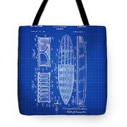 Vintage Surf Board Patent Blue Print 1950 Tote Bag