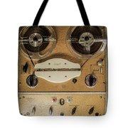 Vintage Tape Sound Recorder Reel To Reel Tote Bag