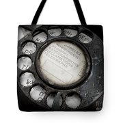 Vintage Telephone Tote Bag by Lainie Wrightson