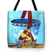 Vintage Tin Sand Bucket Tote Bag