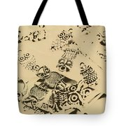 Vintage Toned Owls Tote Bag