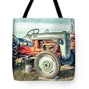 Vintage Tractors Pei Square Tote Bag
