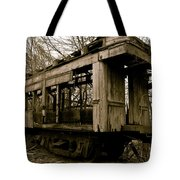 Vintage Train Tote Bag