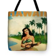 Vintage Travel Hawaii Tote Bag