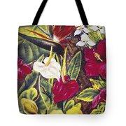 Vintage Tropical Flowers Tote Bag