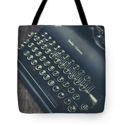Vintage Typewriter Faded Film Tote Bag