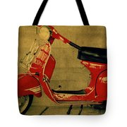 Vintage Vespa Scooter Red Tote Bag