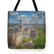 Vintage View Of The Cathedral Tote Bag