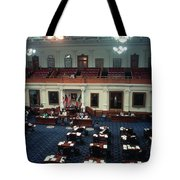 Vintage View Of The Senate Chamber, The Texas Capitol, May 1990 Tote Bag
