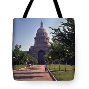 Vintage View Of The Texas State Capitol In Downtown Austin, Texas Tote Bag