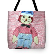 Vintage Volland Raggedy Andy Cloth Doll Tote Bag