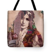 Vintage Woman Built By New York City 2 Tote Bag