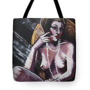 Vintage Years - White Pearls Tote Bag