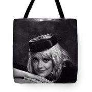 Vintage Young Lady Tote Bag
