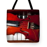 Viola On Piano Keys Tote Bag