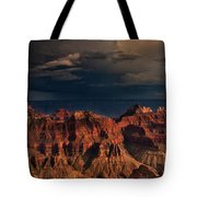 Violent Storm Over The North Rim Grand Canyon National Park Arizona Tote Bag