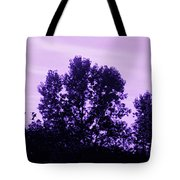 Violet And Black Trees  Tote Bag