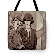 Violet And Rose In Sepia Tone Tote Bag