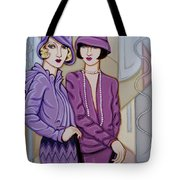 Violet And Rose Tote Bag