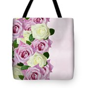 Violet  And White Roses Tote Bag