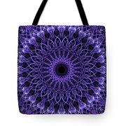 Violet Digital Mandala Tote Bag