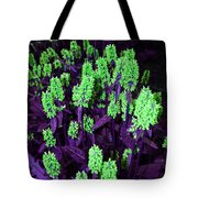 Violet Dream On Green Tote Bag