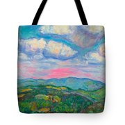 Violet Evening On Rocky Knob Tote Bag
