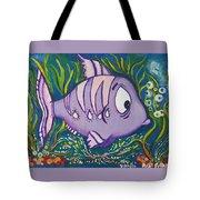 Violet Fish Tote Bag