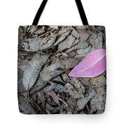 Violet Leaf On The Ground  Tote Bag