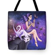 Violet Night Fantasy Tote Bag