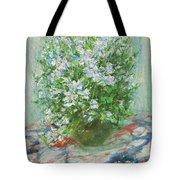Violet Orychophragmus Tote Bag