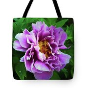 Violet Peony Tote Bag