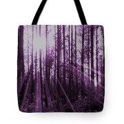 Violet Rays Tote Bag