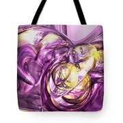 Violet Summer Abstract Tote Bag