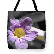 Violet Trumpet Vine Selective Color Tote Bag
