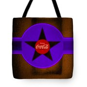 Violet With Red And Orange Tote Bag