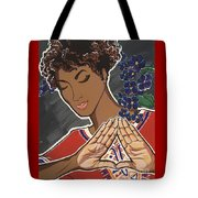 Violets And Dashiki Tote Bag