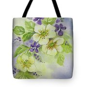 Violets And Wild Roses Tote Bag