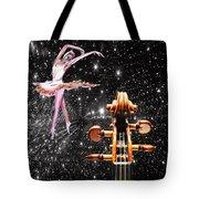 Violin And Ballet Dancer Number 1 Tote Bag