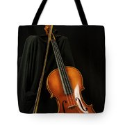 Violin And Bow Tote Bag by Michael D Miller
