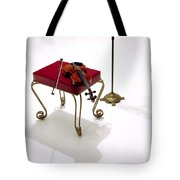 Violin In Silhouette Tote Bag