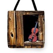 Violin In Window Tote Bag
