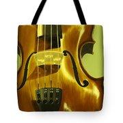 Violin In Yellow Tote Bag