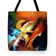 Violin Painting Art 51 Tote Bag