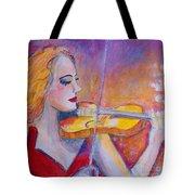 Violin Player Tote Bag