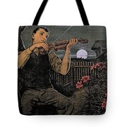 Violin Player To The Moon Tote Bag