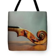 Violin Scroll Tote Bag