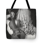 Violin Woman - Id 16218-130643-9888 Tote Bag