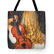 Violin Woman - Id 16218-130709-0128 Tote Bag