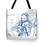 Violinist In Blue II Tote Bag